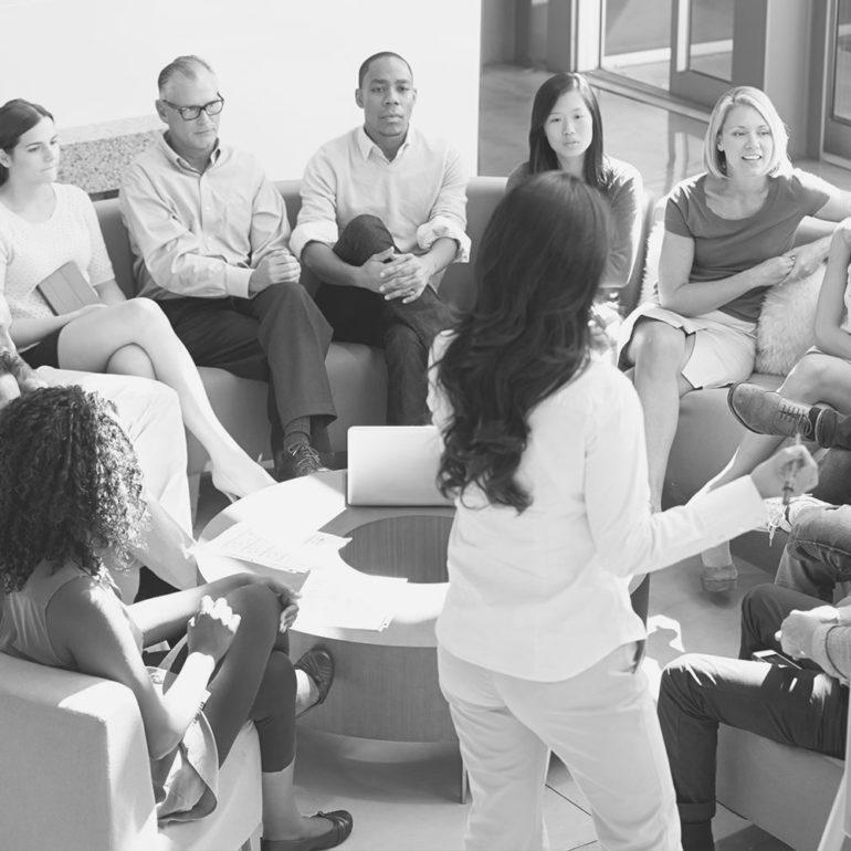 réunion de cohésion d'équipe